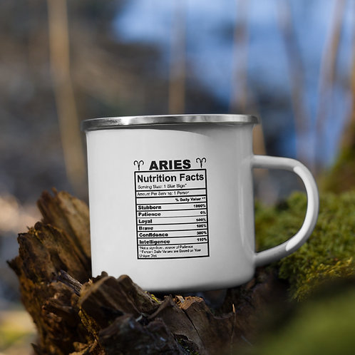 Aries Nutrition Facts Zodiac Nutrition Facts Vol. 1 Camp Mug