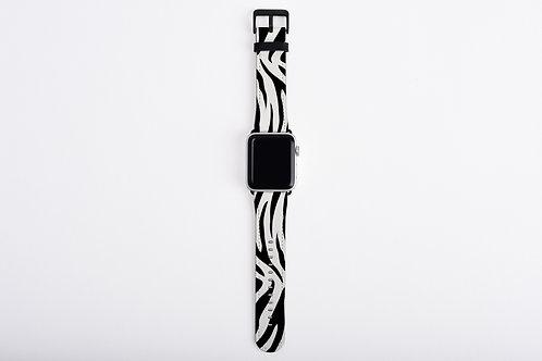 Zebra Print Designer Apple Watch Band