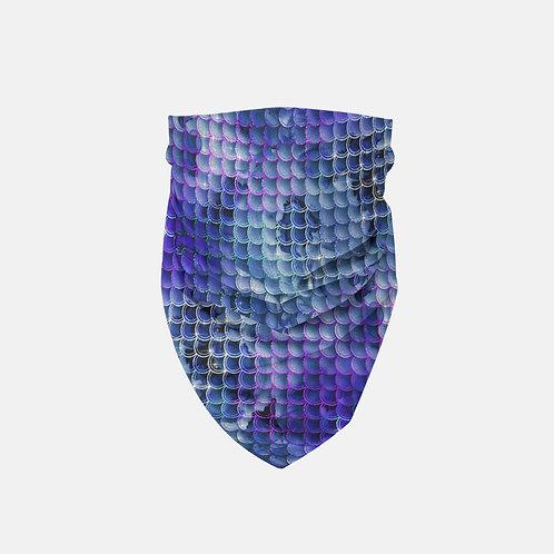 Midnight Glittered Mermaid Scales Designer Bandana