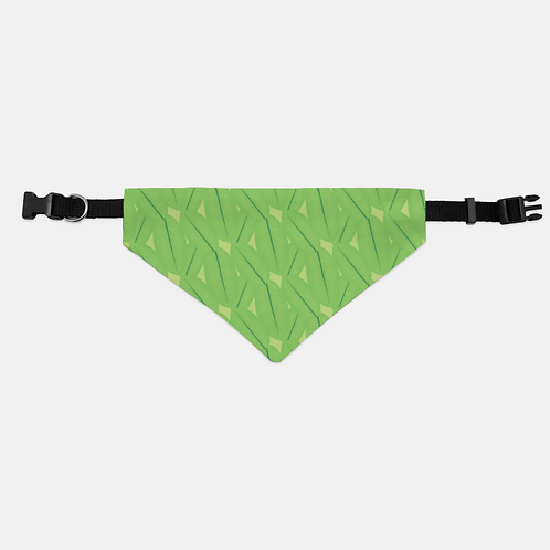 Floral Frogs Leaves Pet Bandana Collar