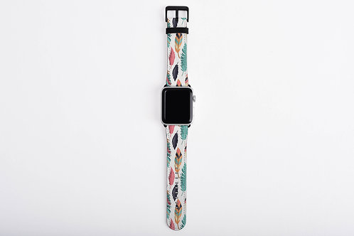 Tribal Wild Feathers Designer Apple Watch Band