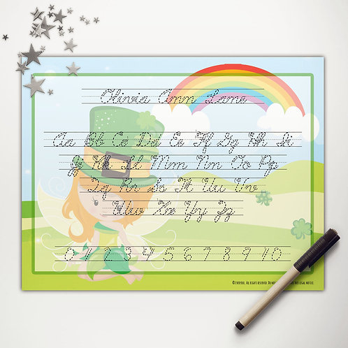 Good Luck Fairy Writing Mat (light skin | cursive)