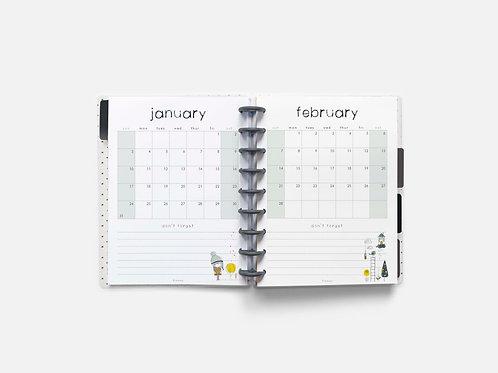 Whimsical Ye. 2021 Monthly Full Sheet Calendar