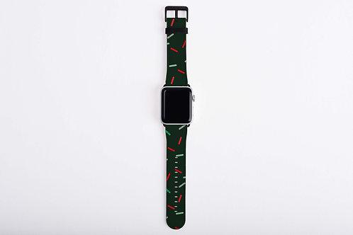 Gingerbread Train Sprinkles Apple Watch Band