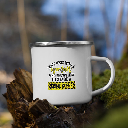 Don't Mess With A Woman Who Knows How True Crime Vol. 1 Camp Mug