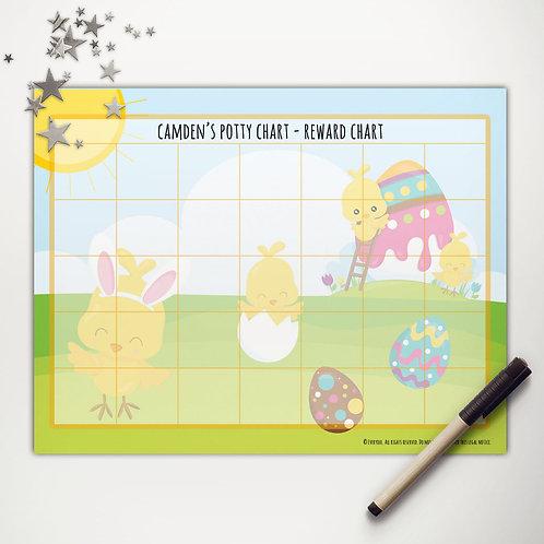 Easter Chicks Painting Basic Reward Chart