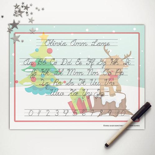 Rudolph Fun Writing Mat (cursive)