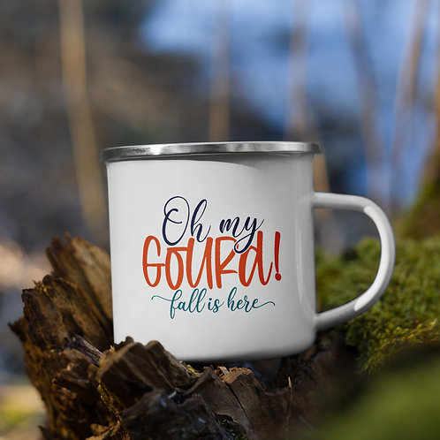 Oh My Gourd Fall is Here Fall Vol. 5 Enamel Camp Mug