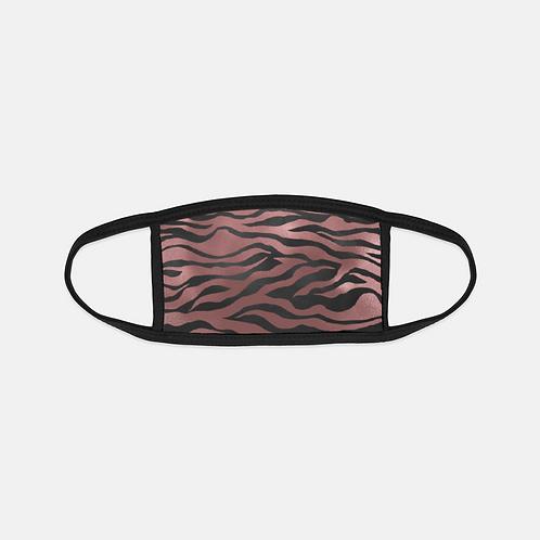 Luxury Safari Pink Tiger Black Edge Face Cover