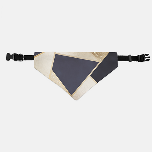 Navy + Rose Gold Geo Triangles Pet Bandana Collar
