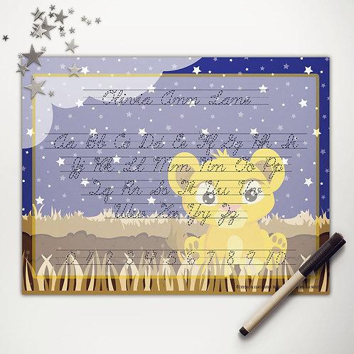 Pride Lands Little Lion Writing Mat (cursive)