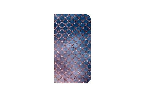 Blush + Navy Ombre Mermaid Scales Folio Wallet Case