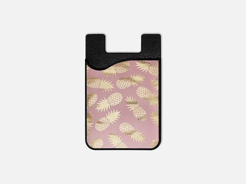 Blush + Gold Pineapples Card Holder