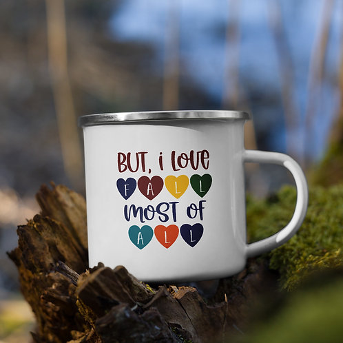 But I Love Fall Most of All Fall Vol. 5 Enamel Camp Mug