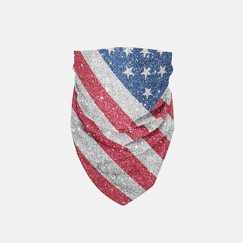 Glittered Patriotic United States Flag Designer Bandana