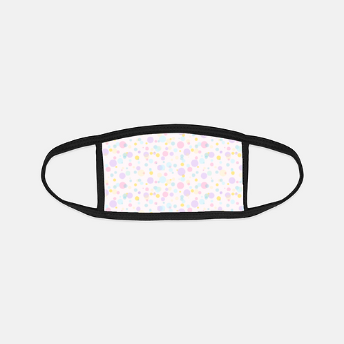 Easter Sweets Confetti Black Edge Face Cover