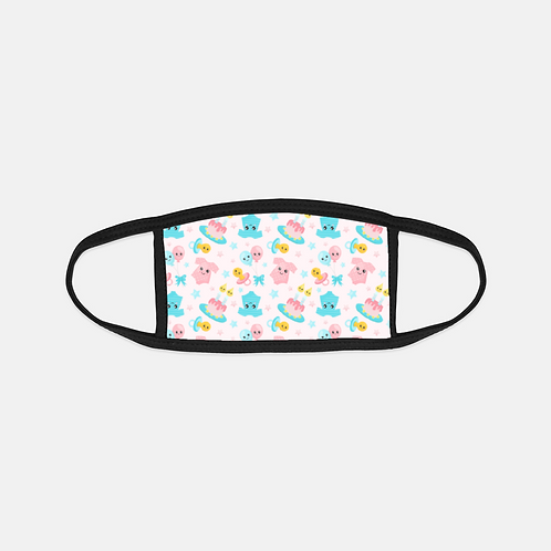 Gender Reveal Party Black Edge Face Cover