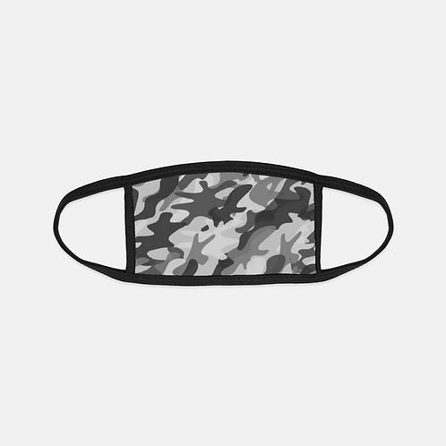 Black + White Camo Black Edge Face Cover