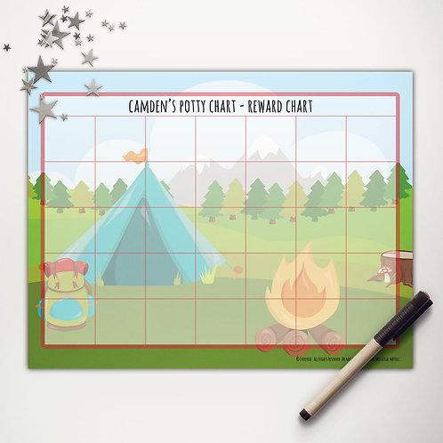 Tent Camping Basic Reward Chart