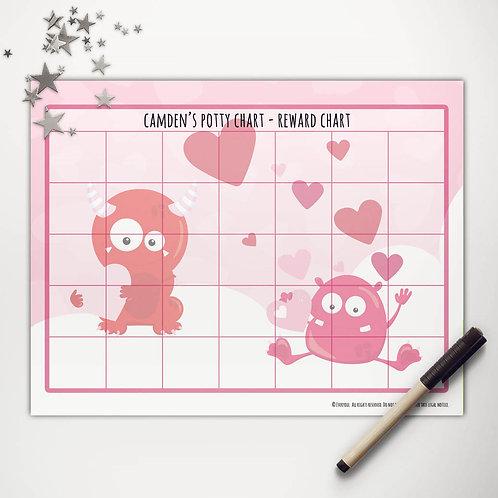 Valentine Monsters Basic Reward Chart