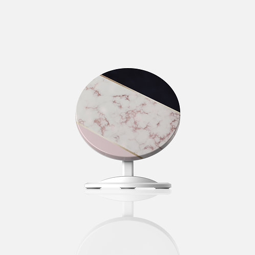 Rose Gold Marble + Black Wireless Charger