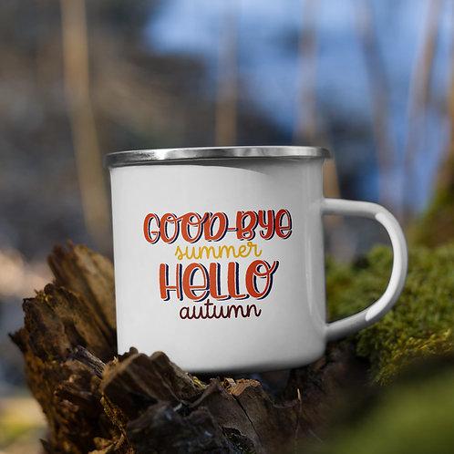 Goodbye Summer Hello Autumn Fall Vol. 5 Enamel Camp Mug