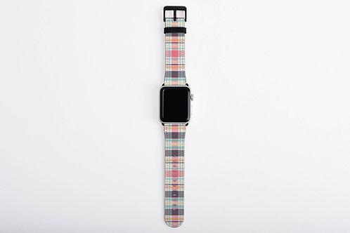Tribal Plaid Pink Designer Apple Watch Band
