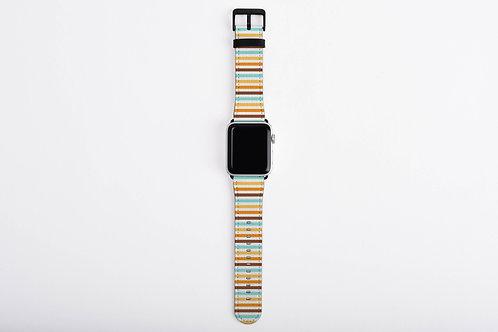 Bab Giraffe Stripes Blues Designer Apple Watch Band