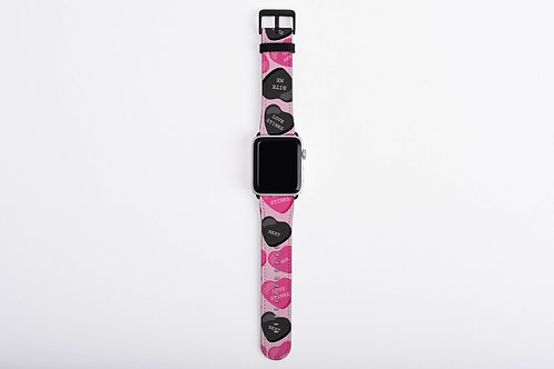 Anti-Valentines Sweetish Hearts Designer Apple Watch Band