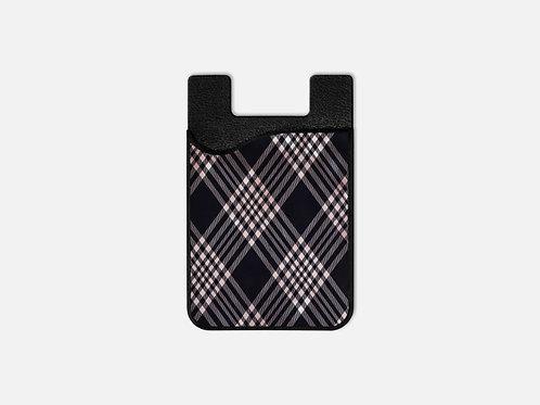Navy + Blush Luxury Plaid Card Holder