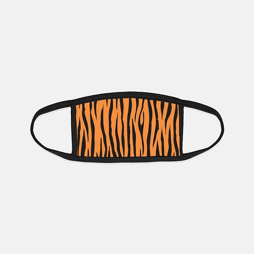 Tiger Animal Print Black Edge Face Cover