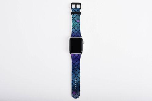 Ocean Glittered Mermaid Scales Designer Apple Watch Band