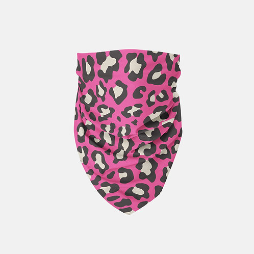Valentine Dark Pink Leopard Print Designer Bandana