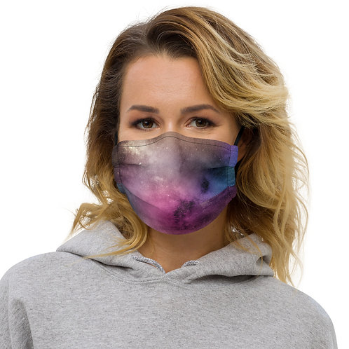 Galaxy Watercolor Malik Premium Face Cover with Pocket