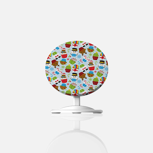 Christmas Cupcakes Wireless Charger