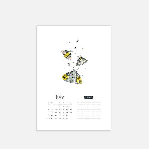 Whimsical Ye. July 2020 Full Sheet Calendar