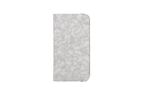Silver Marble Folio Wallet Case
