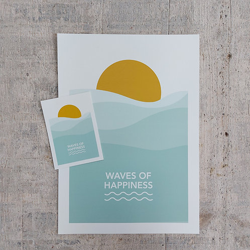Poster Waves of Happiness
