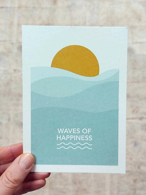 "3 Postkaartjes ""Waves of Happiness"""