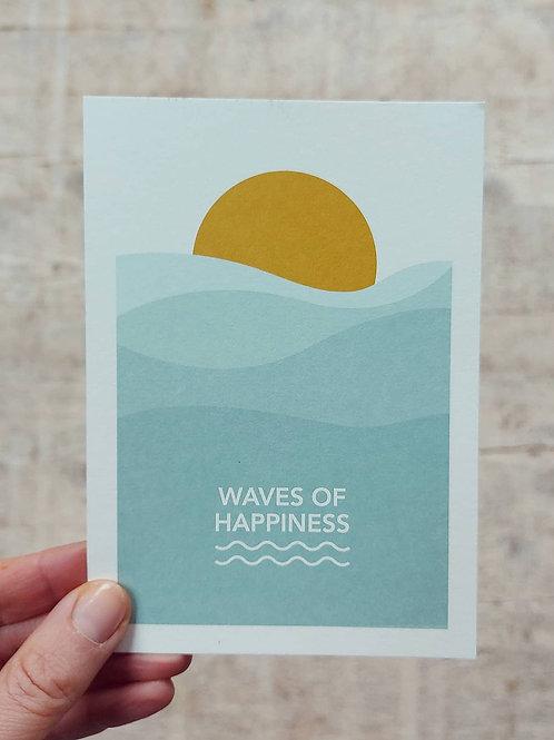 Postkaart Waves of Happiness
