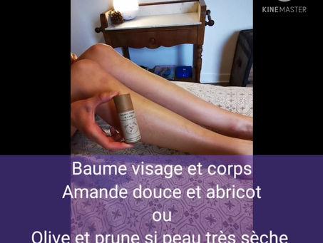 Baume Visage & Corps, sur les jambes