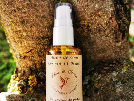 Huile de soin Abricot et Prune - Elise & Rose