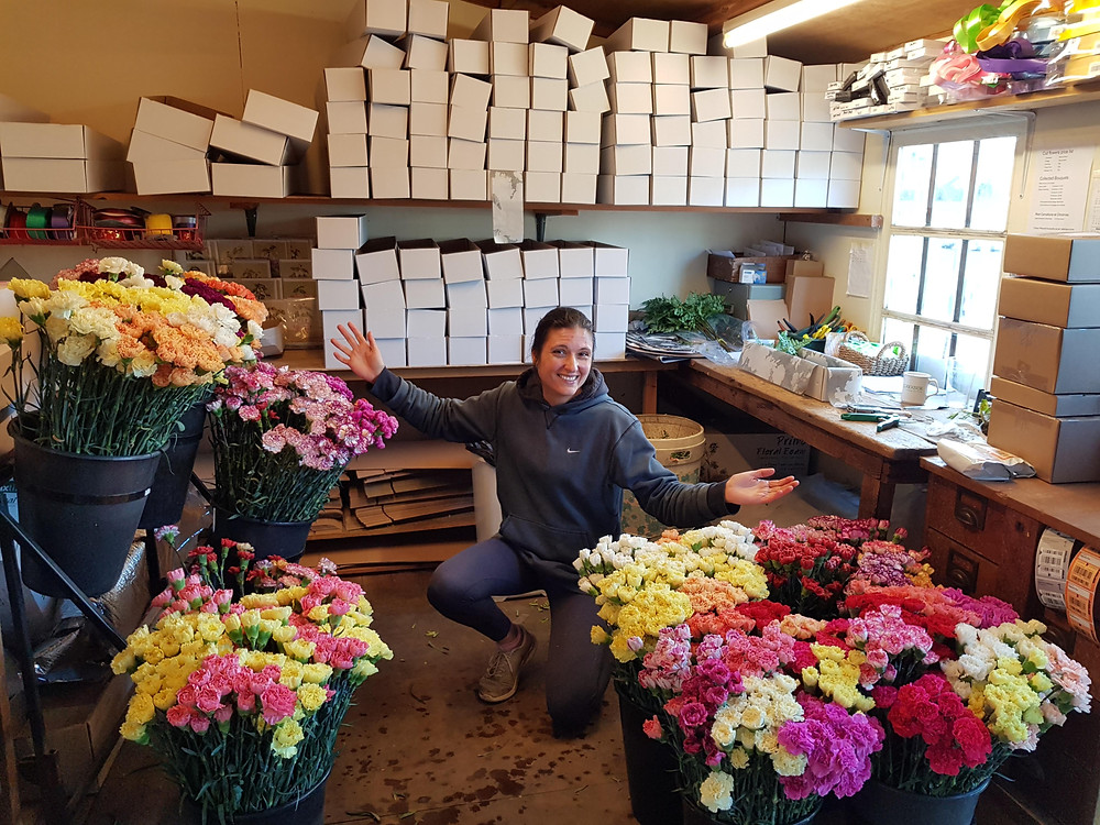 Sarah is spoilt for choice when selecting your flowers