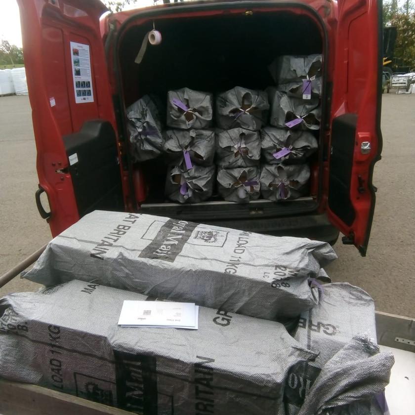 Filling the post van!!