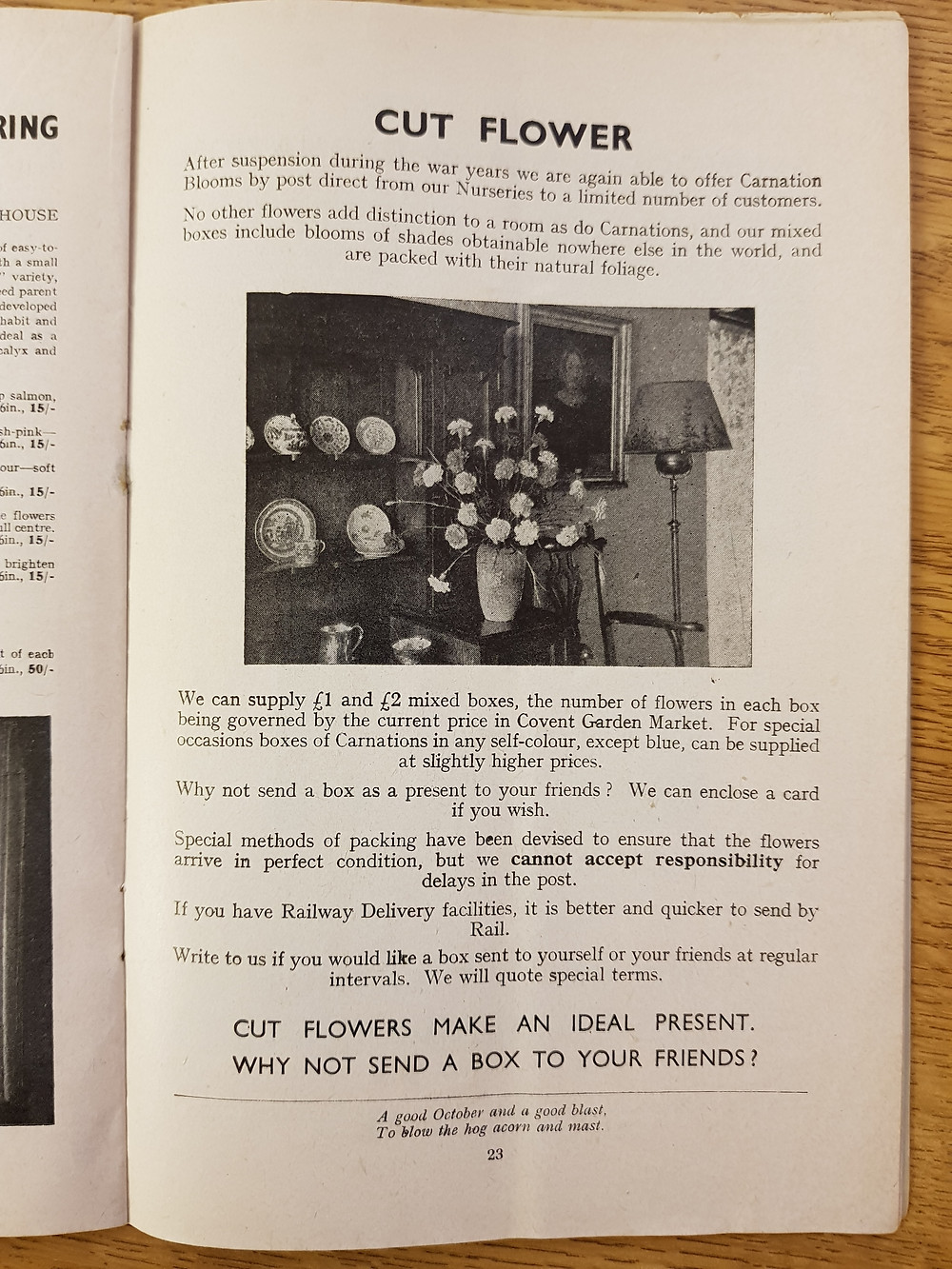 How they used to be sent, an excerpt from the 1950s mail order catalogue