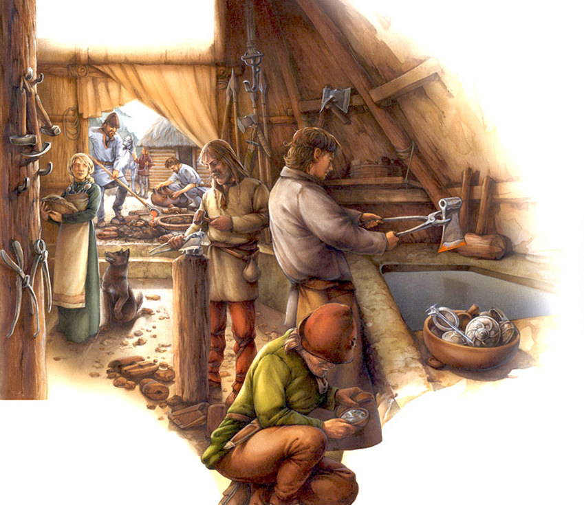 iron production in the Viking age