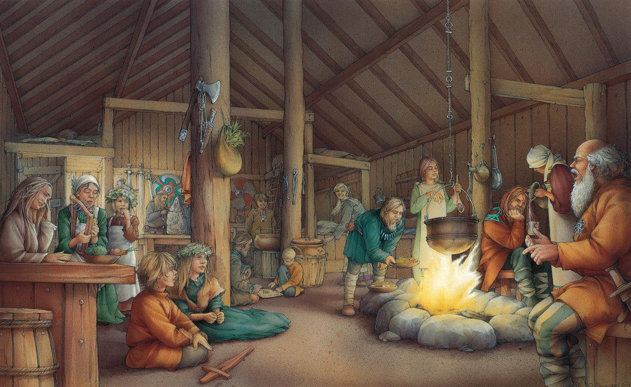 inside the Viking longhouse