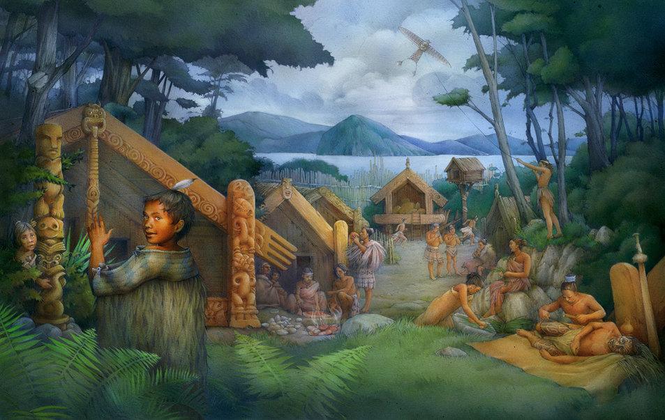 the Maori village