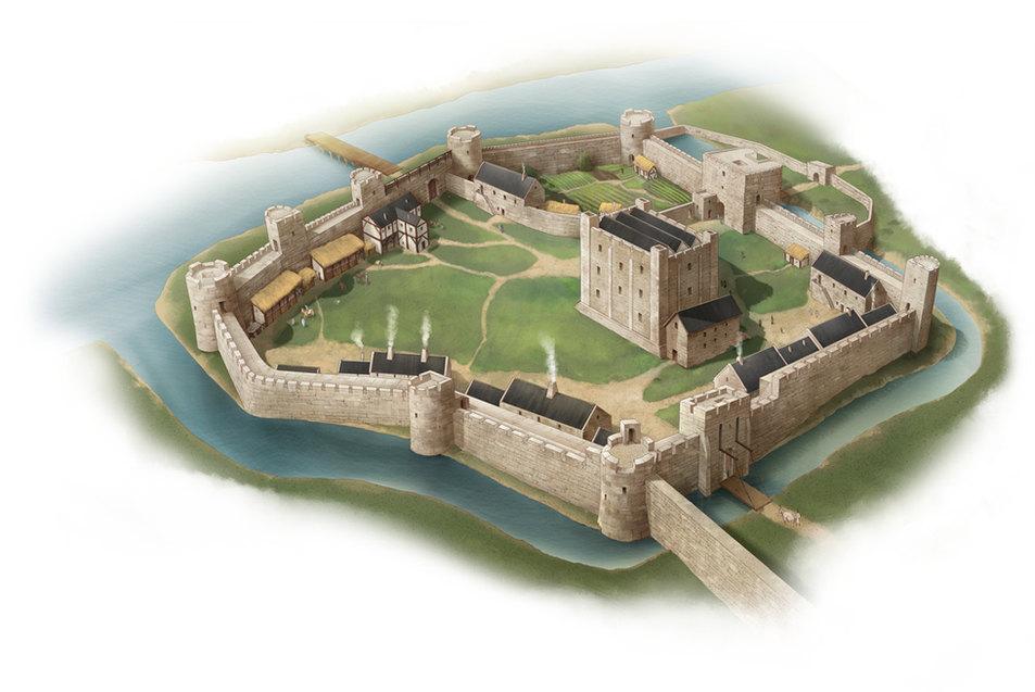 reconstruction of Gloucester castle