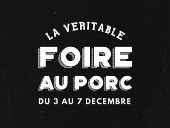 FOIRE AU PORC | DU 3 AU 7 DÉCEMBRE